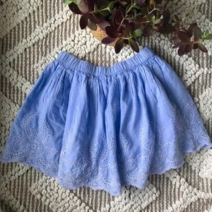 Gap Eyelet Light Blue Skirt